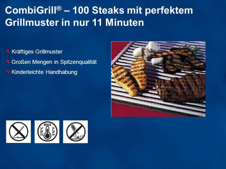 CombiGrill® – 100 Steaks mit perfektem Grillmuster in nur 11 Minuten