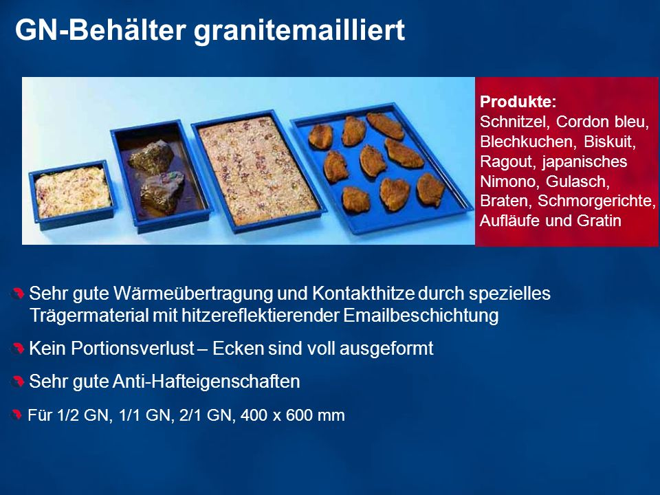 GN-Behälter granitemailliert