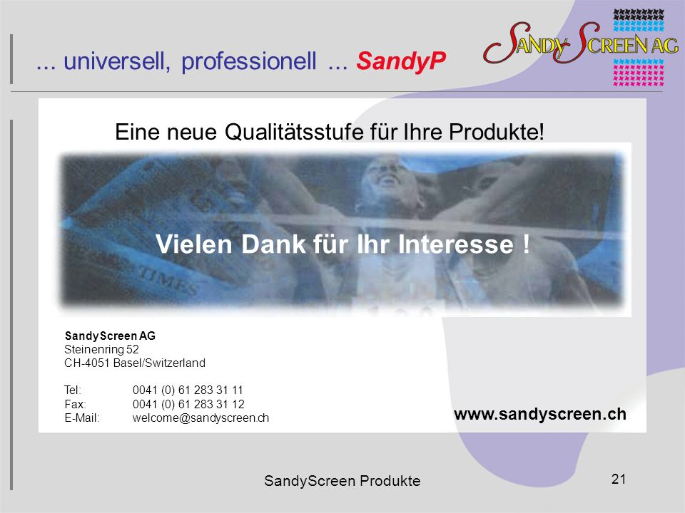 ... universell, professionell ... SandyP
