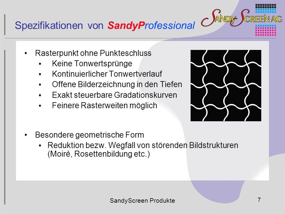 Spezifikationen von SandyProfessional