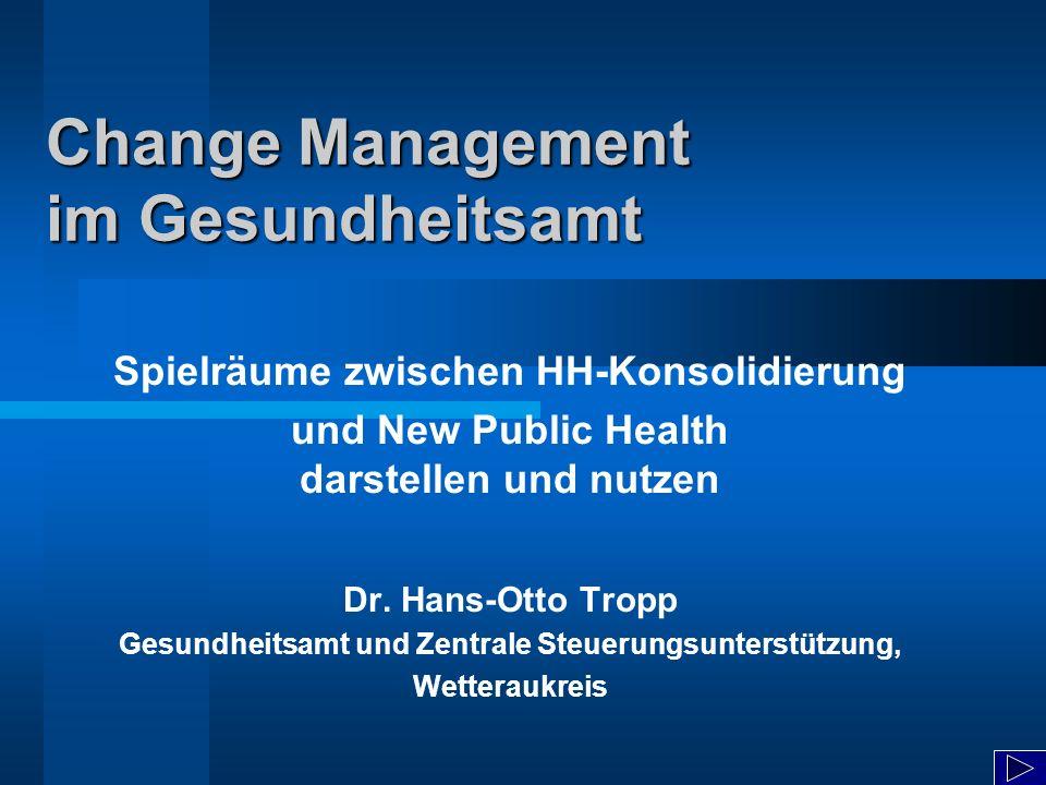 Change Management im Gesundheitsamt