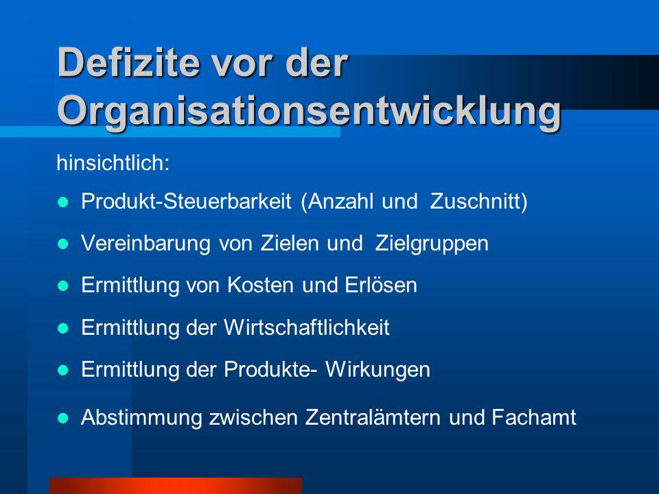 Defizite vor der Organisationsentwicklung