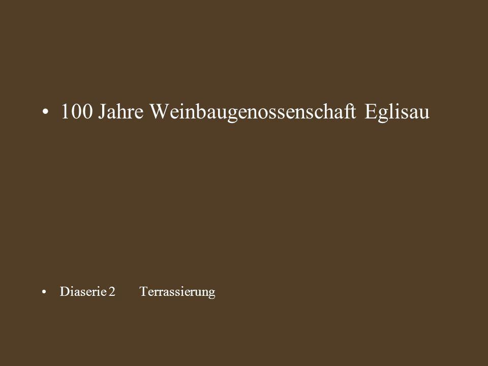 100 Jahre Weinbaugenossenschaft Eglisau