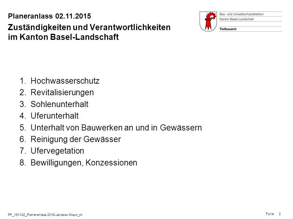 Zuständigkeiten und Verantwortlichkeiten im Kanton Basel-Landschaft