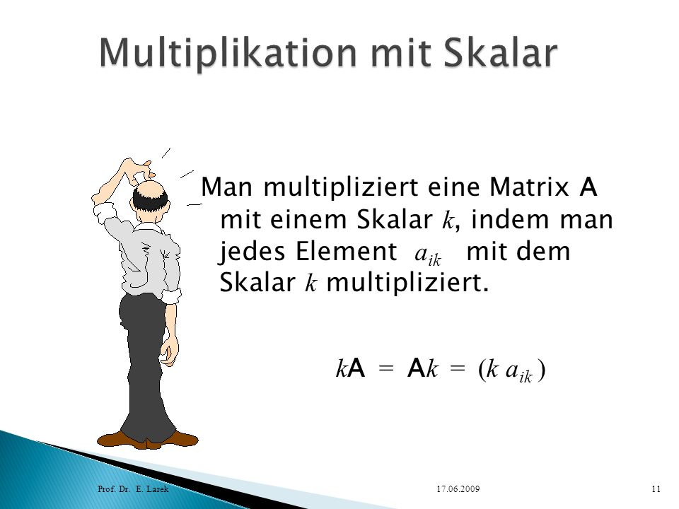 Multiplikation mit Skalar