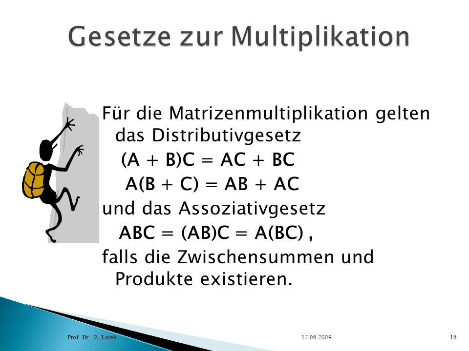 Gesetze zur Multiplikation