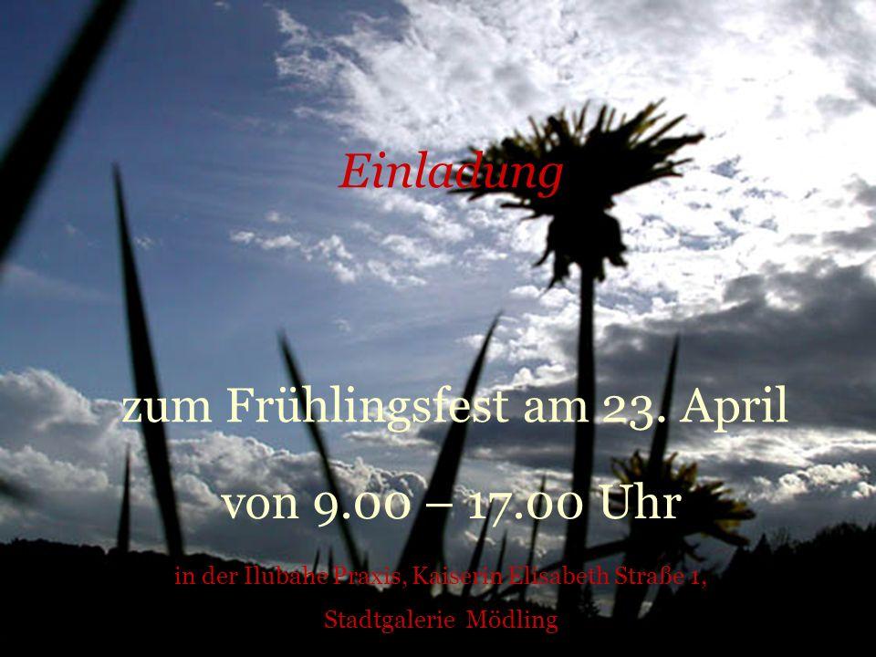 zum Frühlingsfest am 23. April