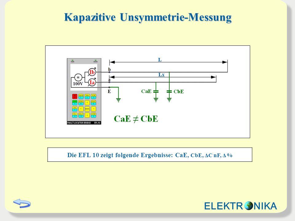Kapazitive Unsymmetrie-Messung