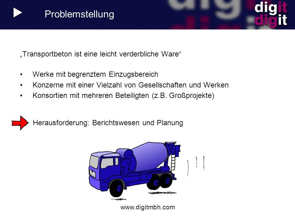 """Problemstellung """"Transportbeton ist eine leicht verderbliche Ware"""