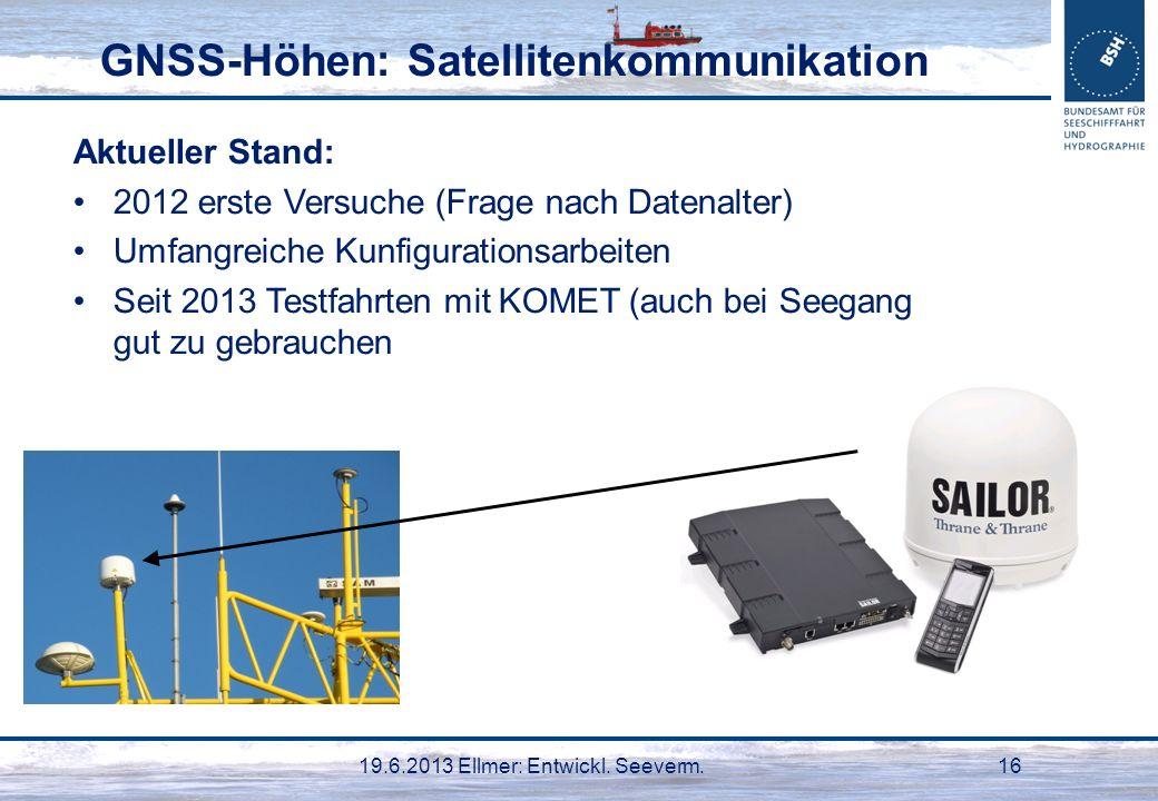 GNSS-Höhen: Satellitenkommunikation