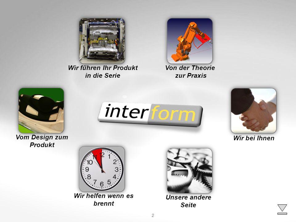 Wir führen Ihr Produkt in die Serie. Von der Theorie. zur Praxis. Vom Design zum. Produkt. Wir bei Ihnen.