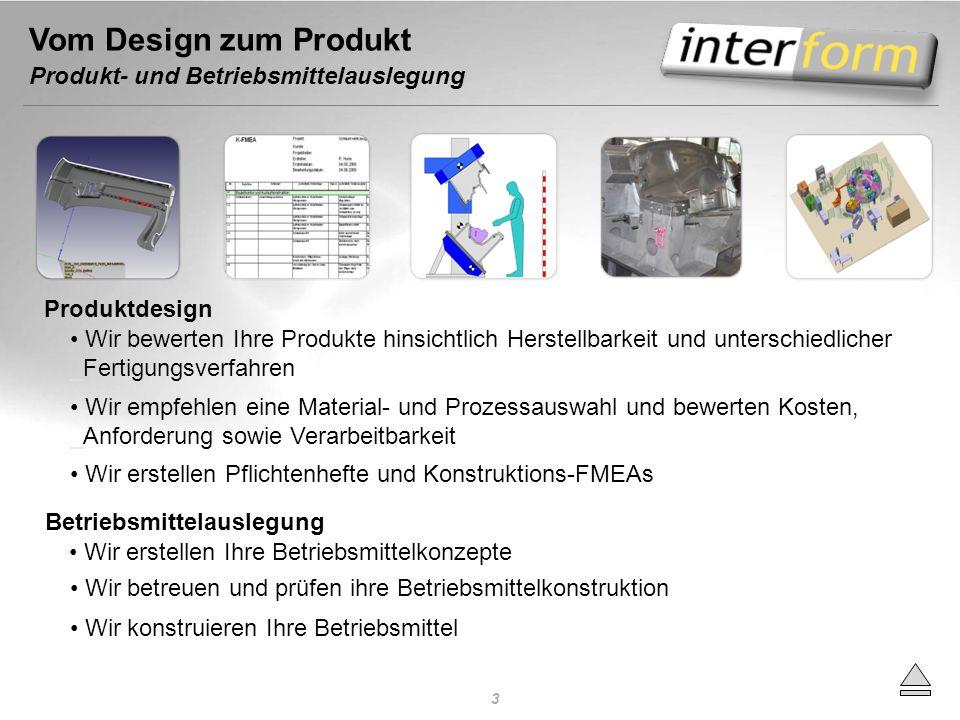 Vom Design zum Produkt Produkt- und Betriebsmittelauslegung