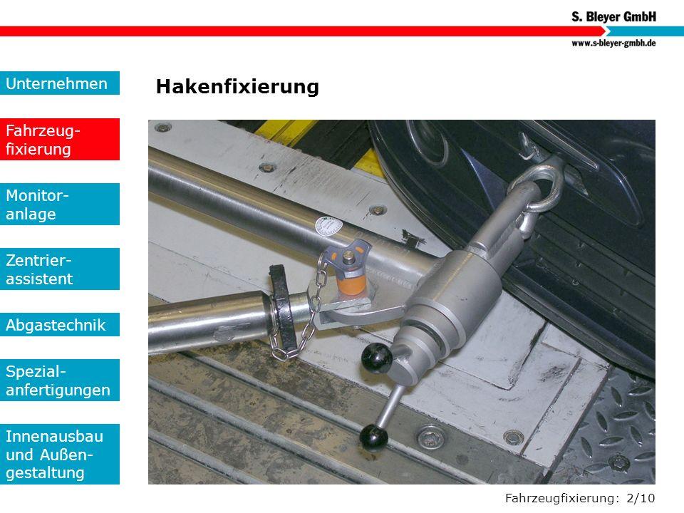 Hakenfixierung Unternehmen Fahrzeug-fixierung Monitor- anlage