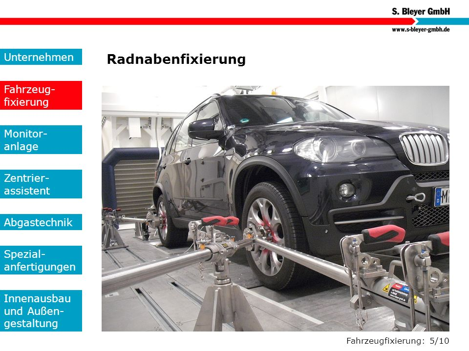 Radnabenfixierung Unternehmen Fahrzeug-fixierung Monitor- anlage