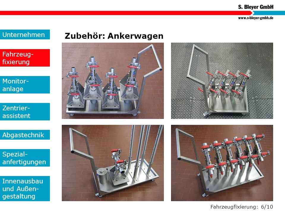 Zubehör: Ankerwagen Unternehmen Fahrzeug-fixierung Monitor- anlage