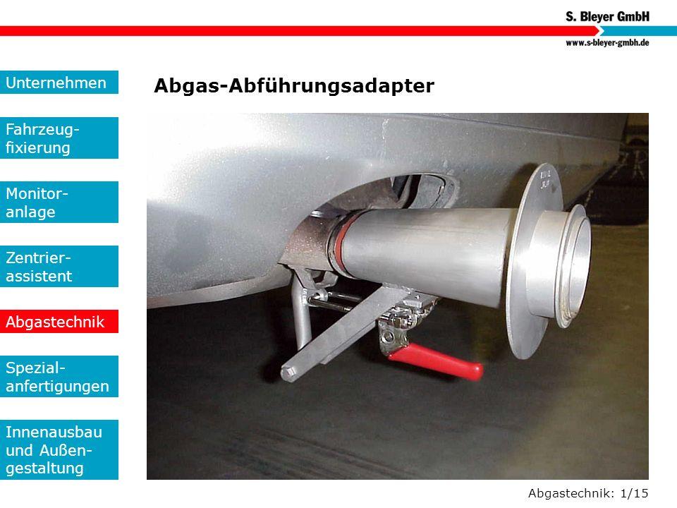 Abgas-Abführungsadapter