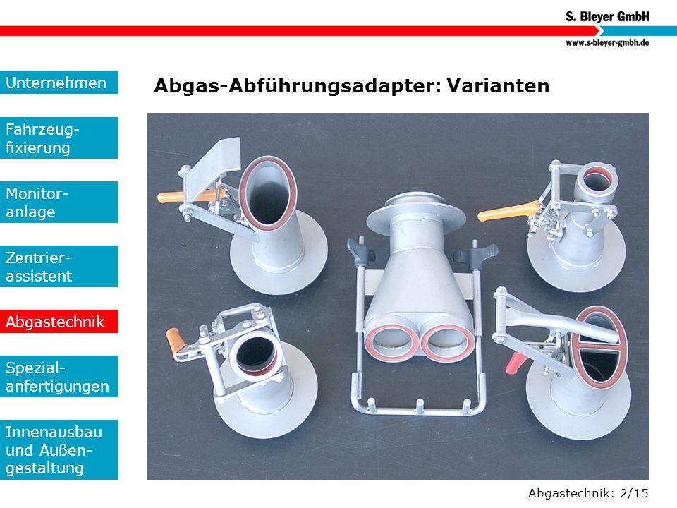 Abgas-Abführungsadapter: Varianten