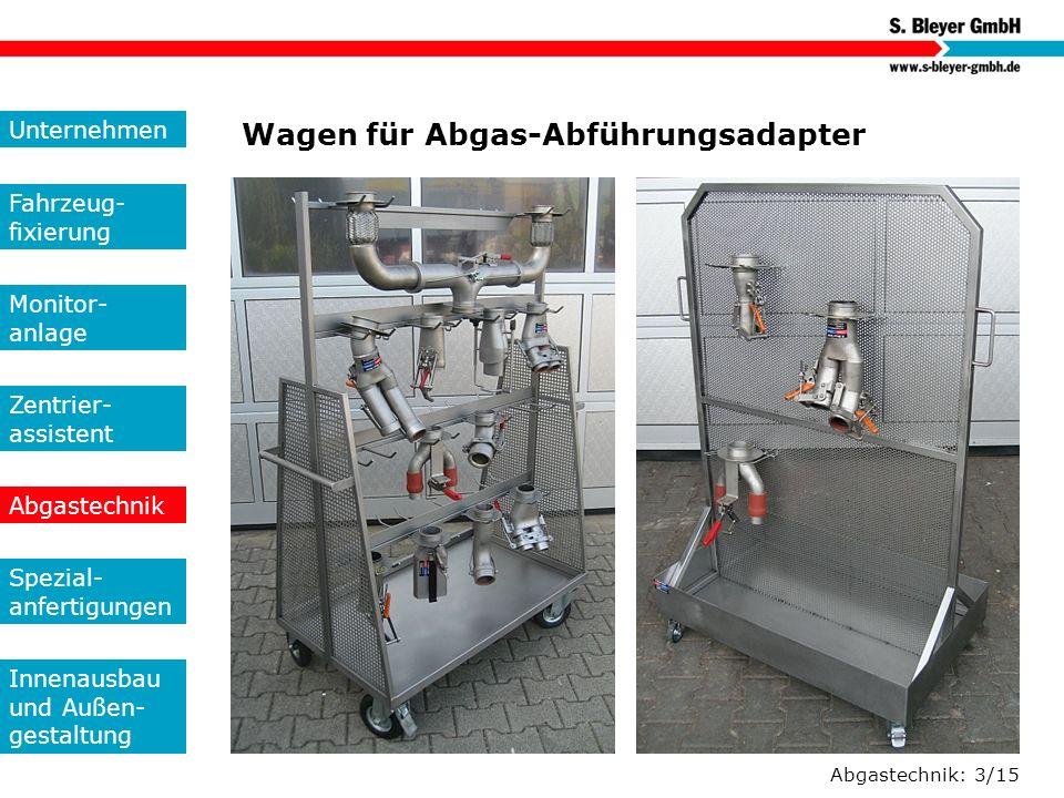 Wagen für Abgas-Abführungsadapter