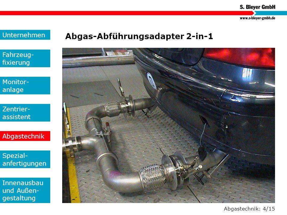 Abgas-Abführungsadapter 2-in-1