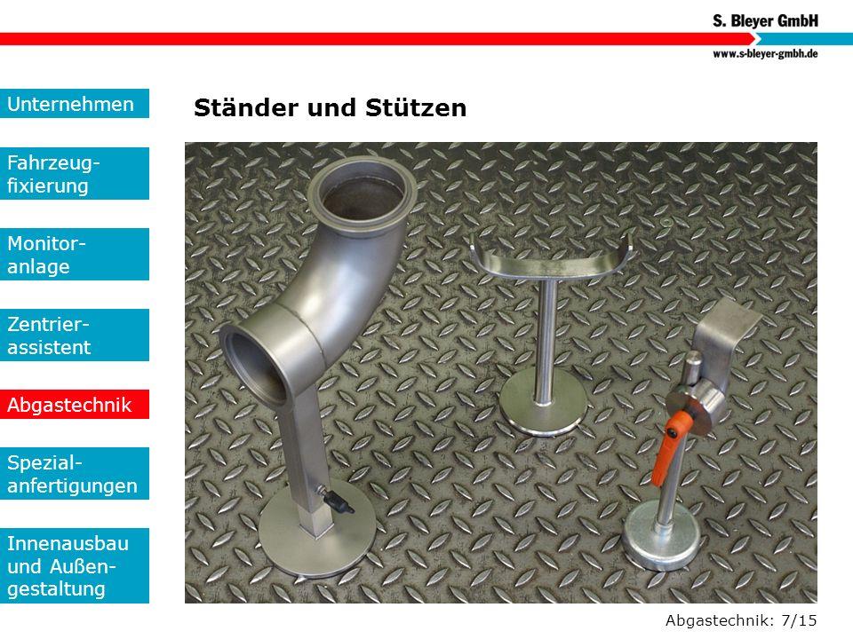 Ständer und Stützen Unternehmen Fahrzeug-fixierung Monitor- anlage