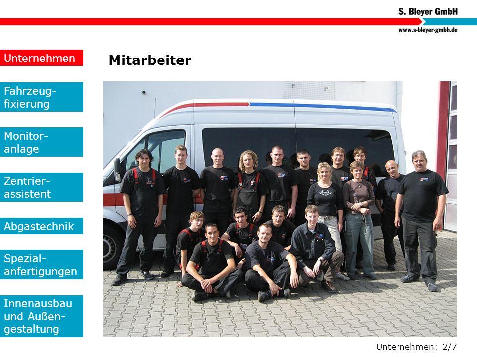 Mitarbeiter Unternehmen Fahrzeug-fixierung Monitor- anlage