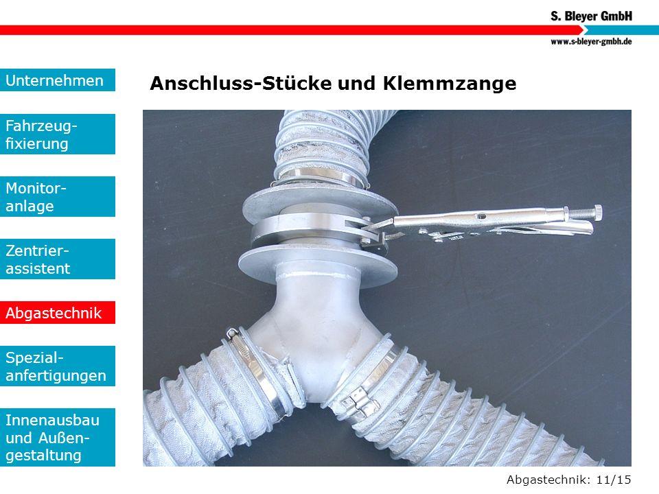 Anschluss-Stücke und Klemmzange