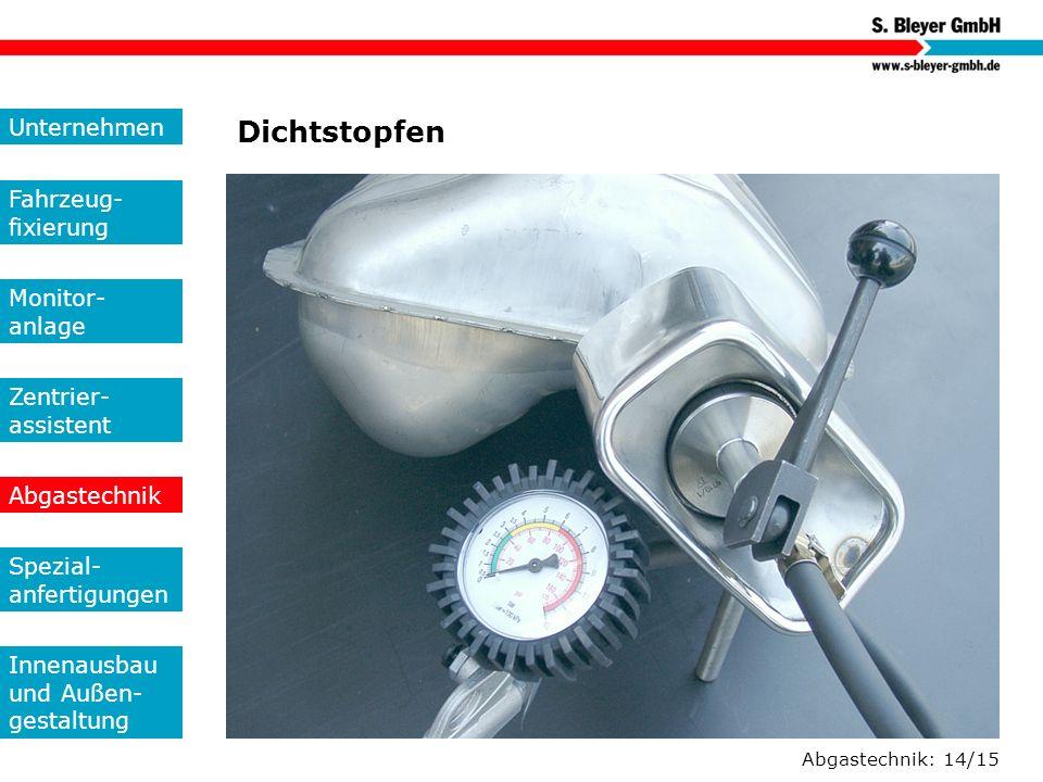 Dichtstopfen Unternehmen Fahrzeug-fixierung Monitor- anlage