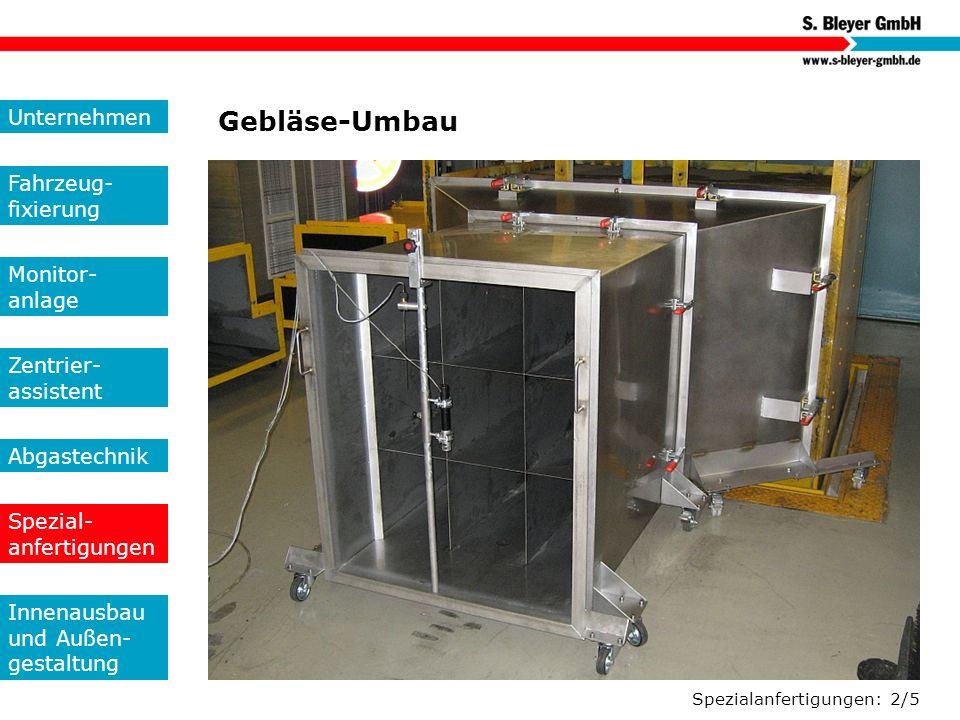 Gebläse-Umbau Unternehmen Fahrzeug-fixierung Monitor- anlage