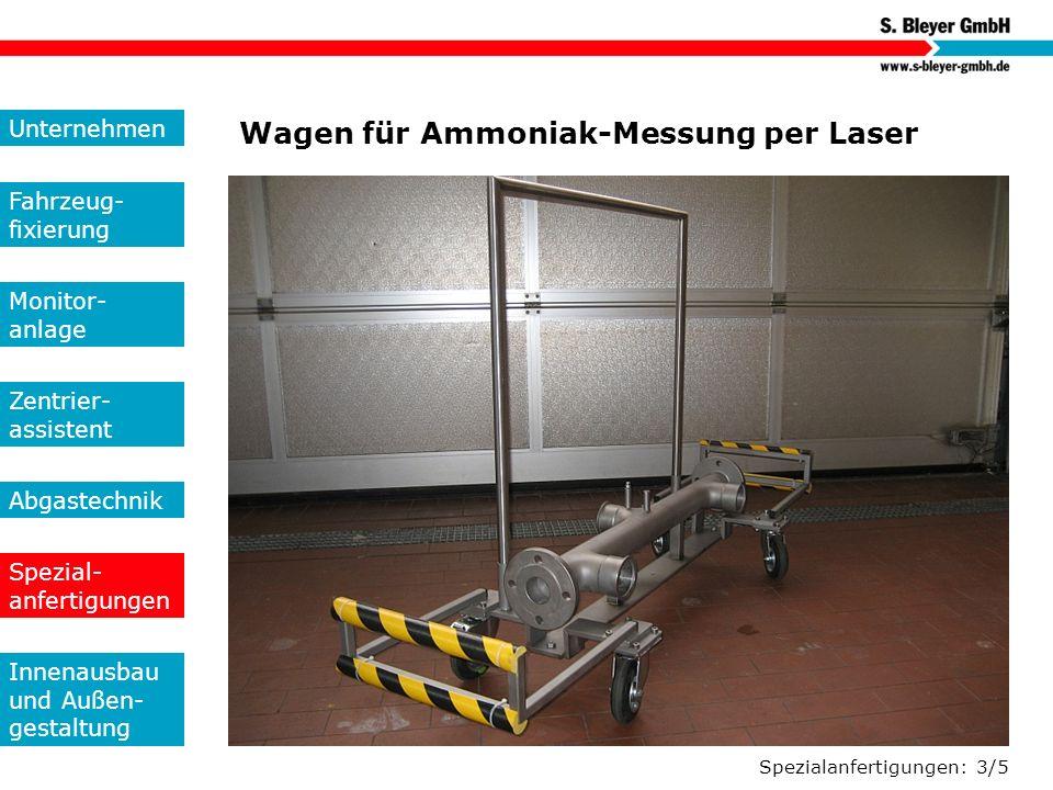 Wagen für Ammoniak-Messung per Laser