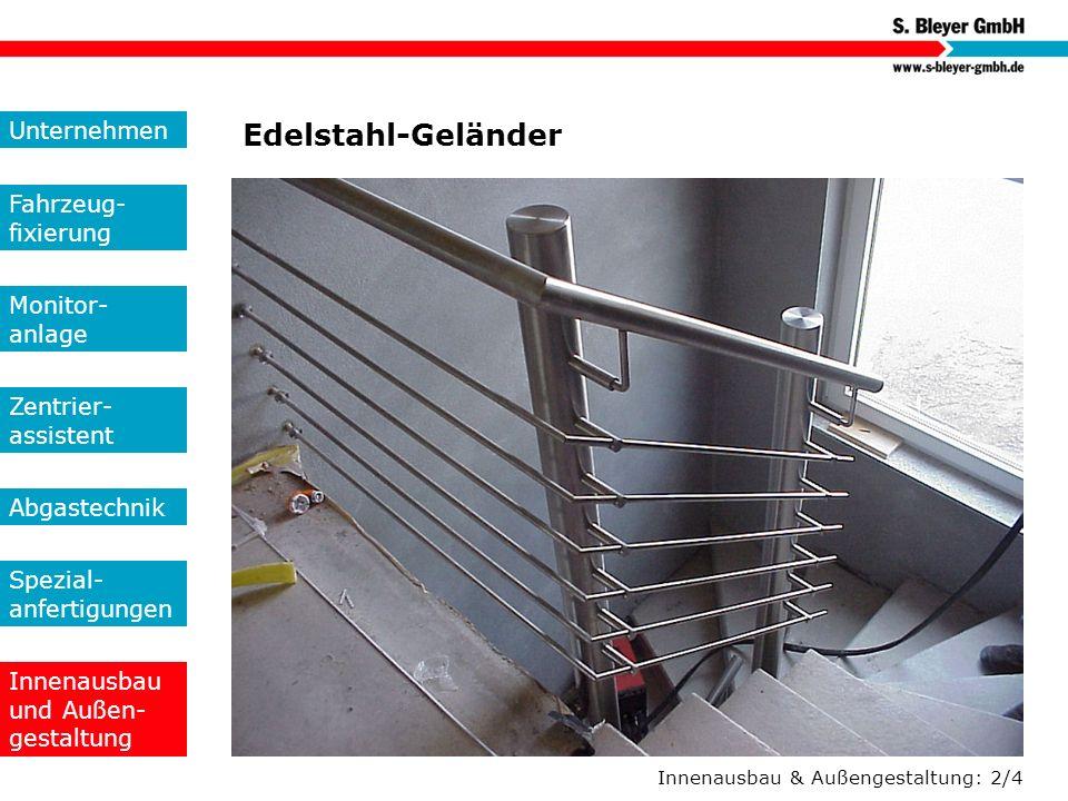 Edelstahl-Geländer Unternehmen Fahrzeug-fixierung Monitor- anlage