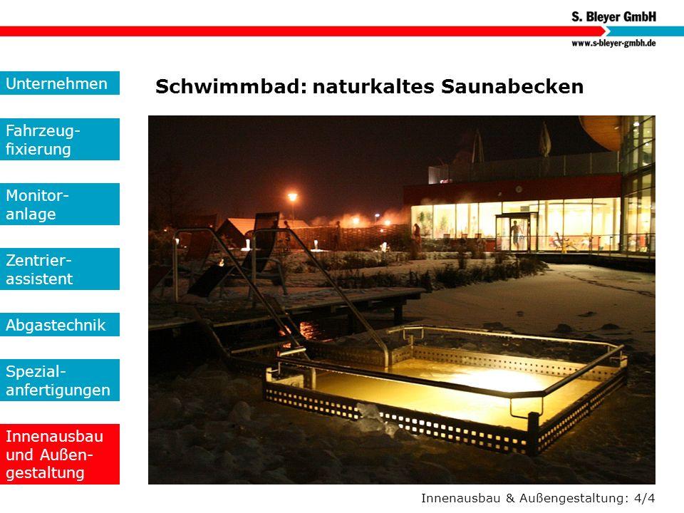 Schwimmbad: naturkaltes Saunabecken