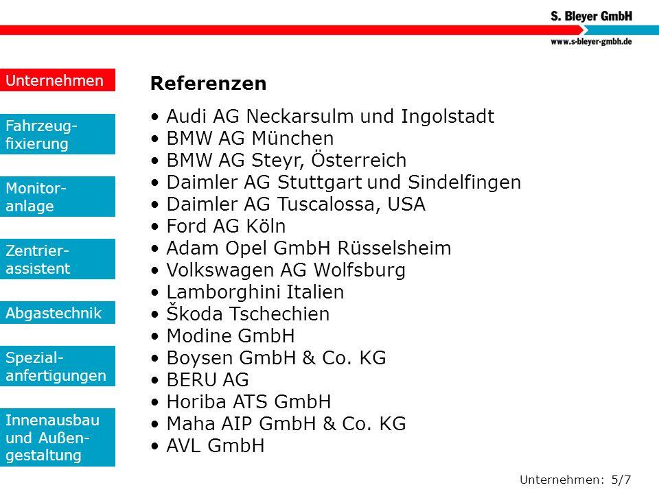 Unternehmen Referenzen.