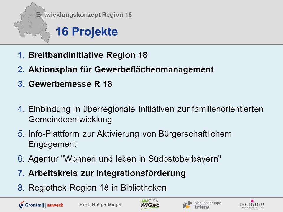 16 Projekte Breitbandinitiative Region 18