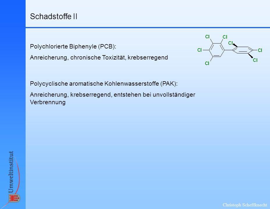 Schadstoffe II Polychlorierte Biphenyle (PCB):