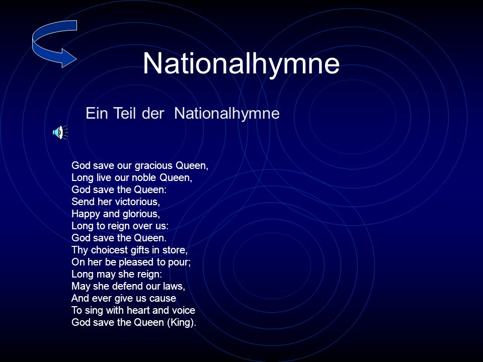 Nationalhymne Ein Teil der Nationalhymne