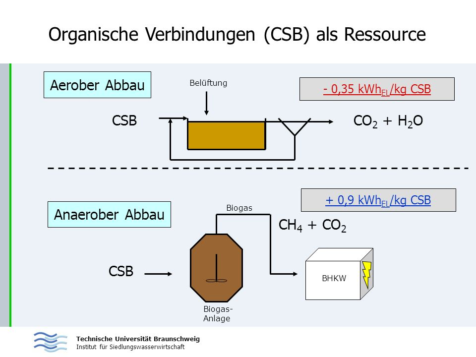Organische Verbindungen (CSB) als Ressource
