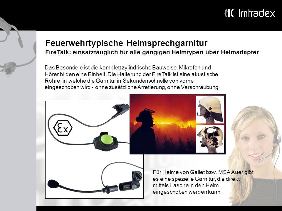 Feuerwehrtypische Helmsprechgarnitur
