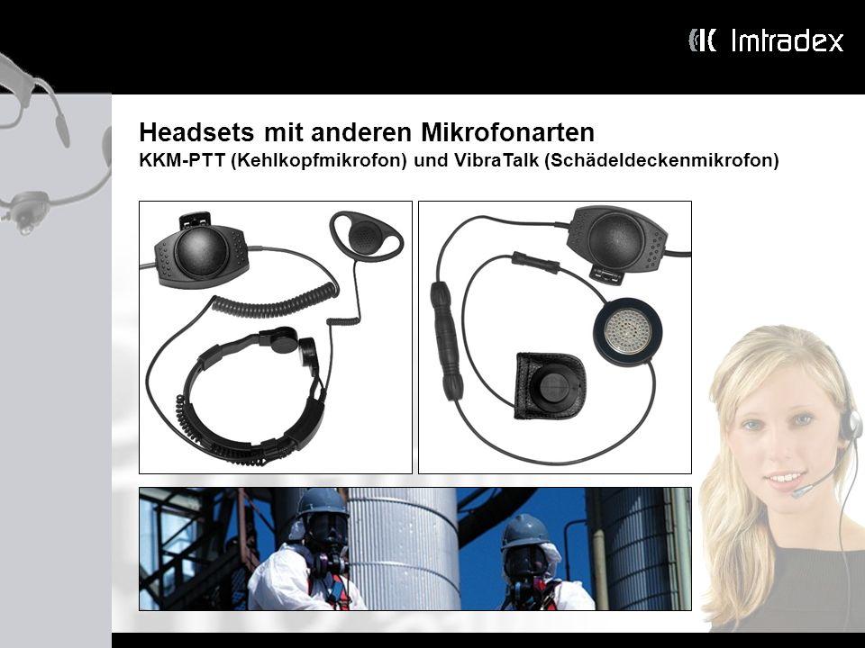 Headsets mit anderen Mikrofonarten
