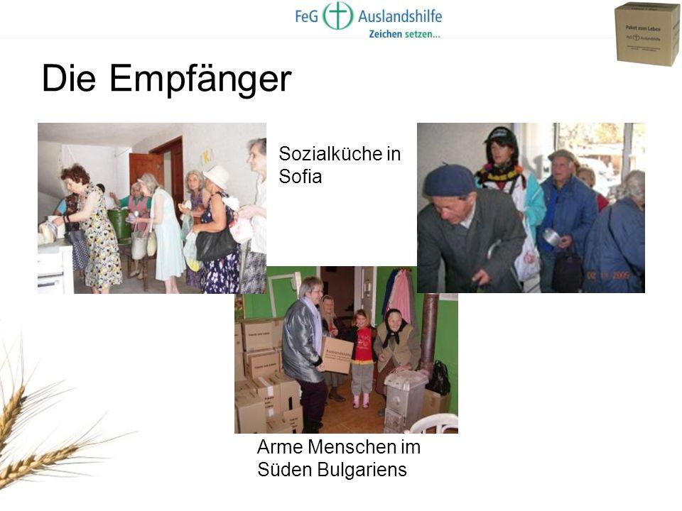 Die Empfänger Sozialküche in Sofia Arme Menschen im Süden Bulgariens