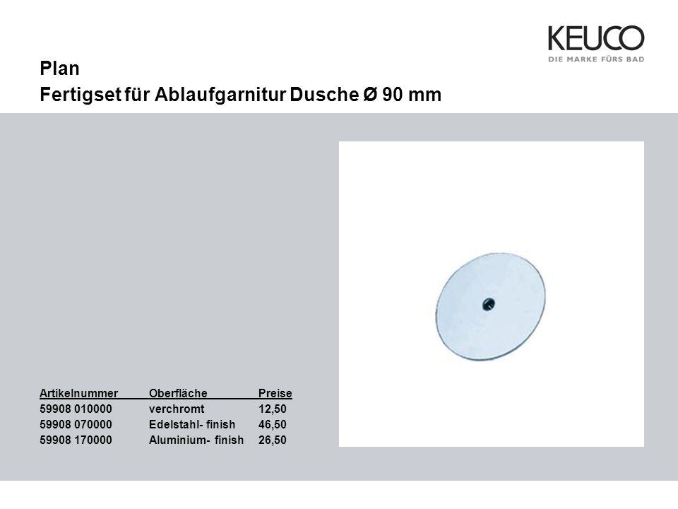 Plan Fertigset für Ablaufgarnitur Dusche Ø 90 mm