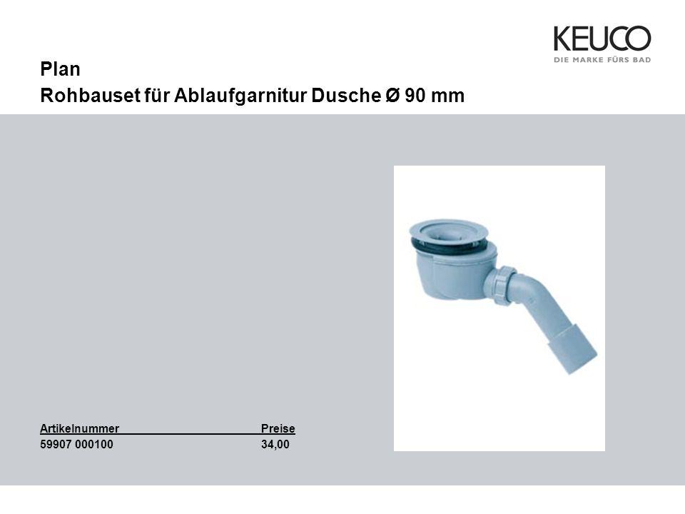 Plan Rohbauset für Ablaufgarnitur Dusche Ø 90 mm