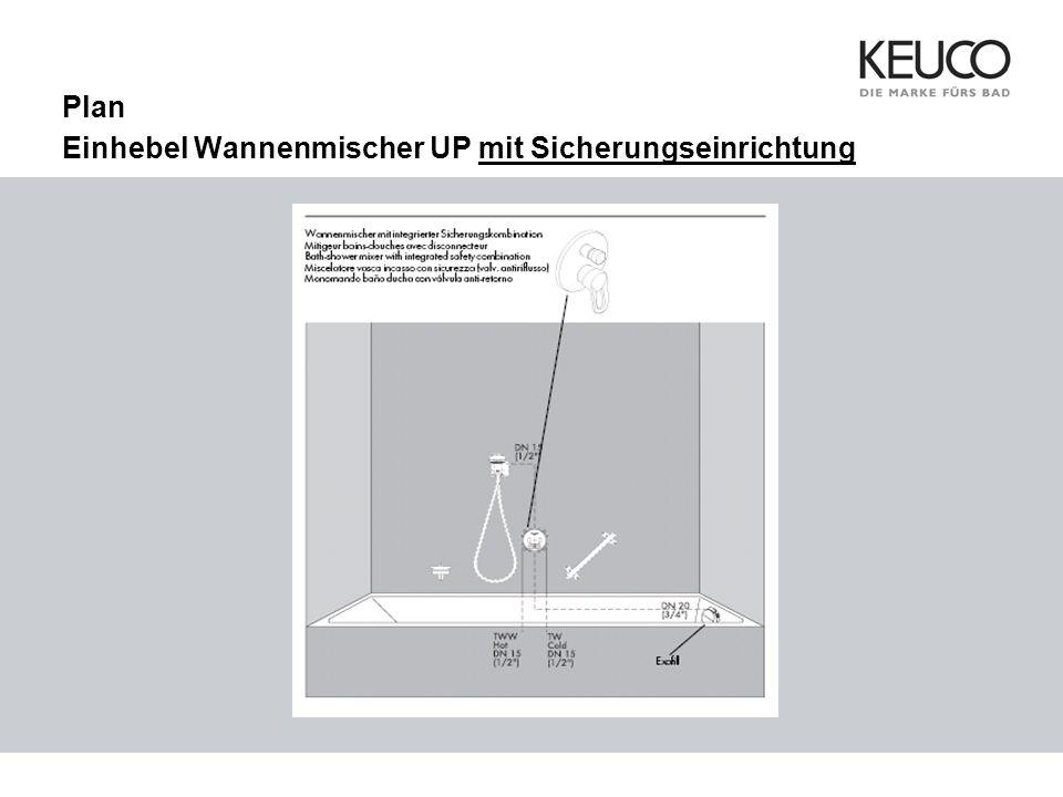 Plan Einhebel Wannenmischer UP mit Sicherungseinrichtung
