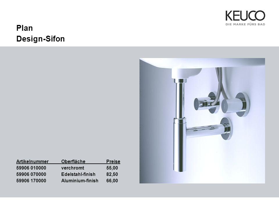 Plan Design-Sifon Bild einfügen Artikelnummer Oberfläche Preise