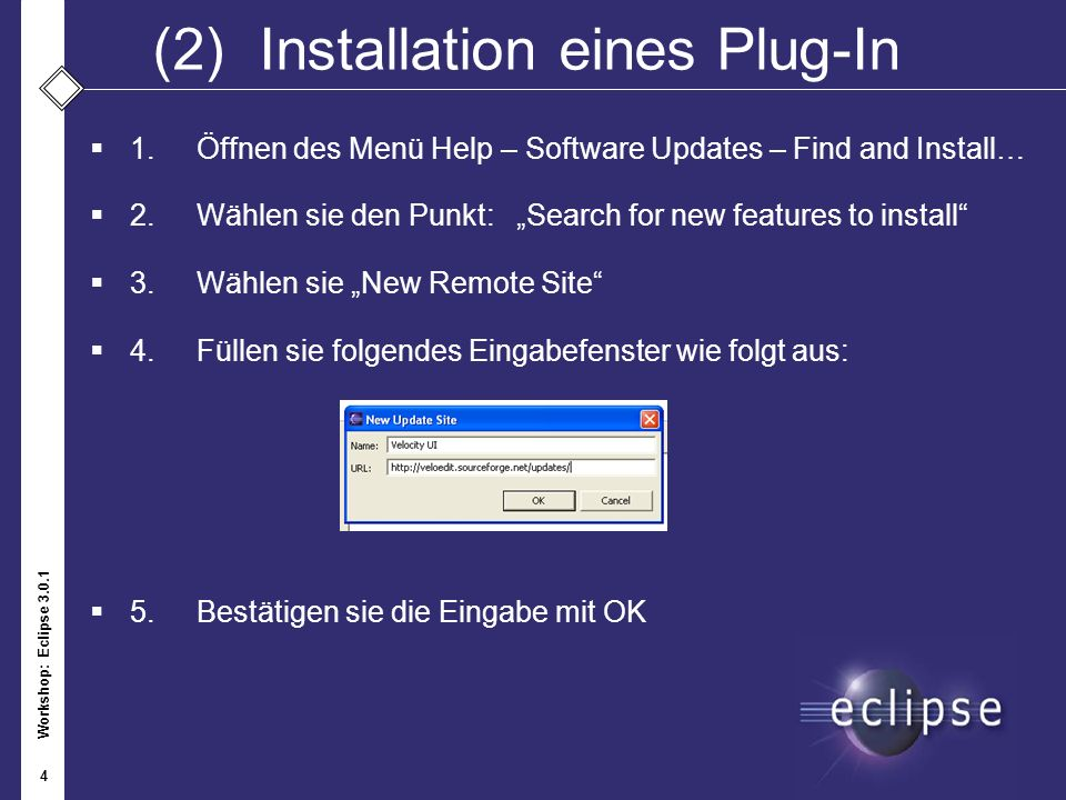 (2) Installation eines Plug-In