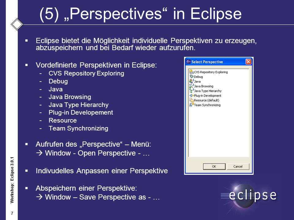 "(5) ""Perspectives in Eclipse"