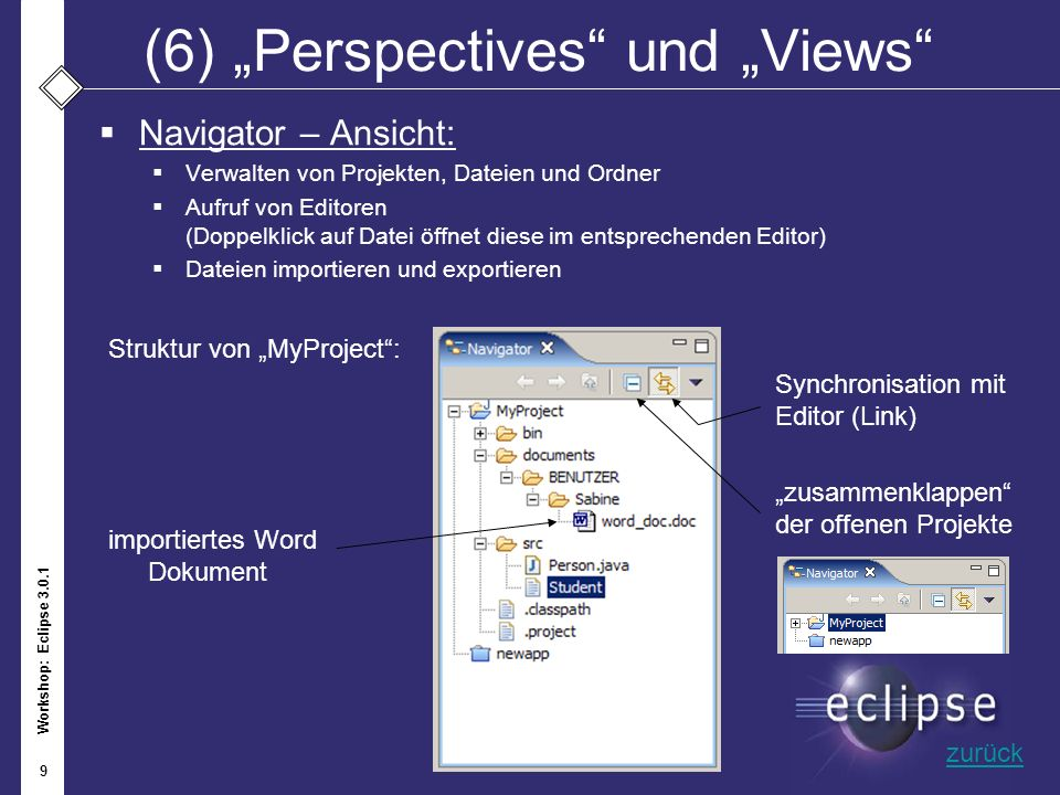 "(6) ""Perspectives und ""Views"