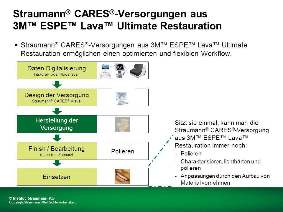 Straumann® CARES®-Versorgungen aus 3M™ ESPE™ Lava™ Ultimate Restauration