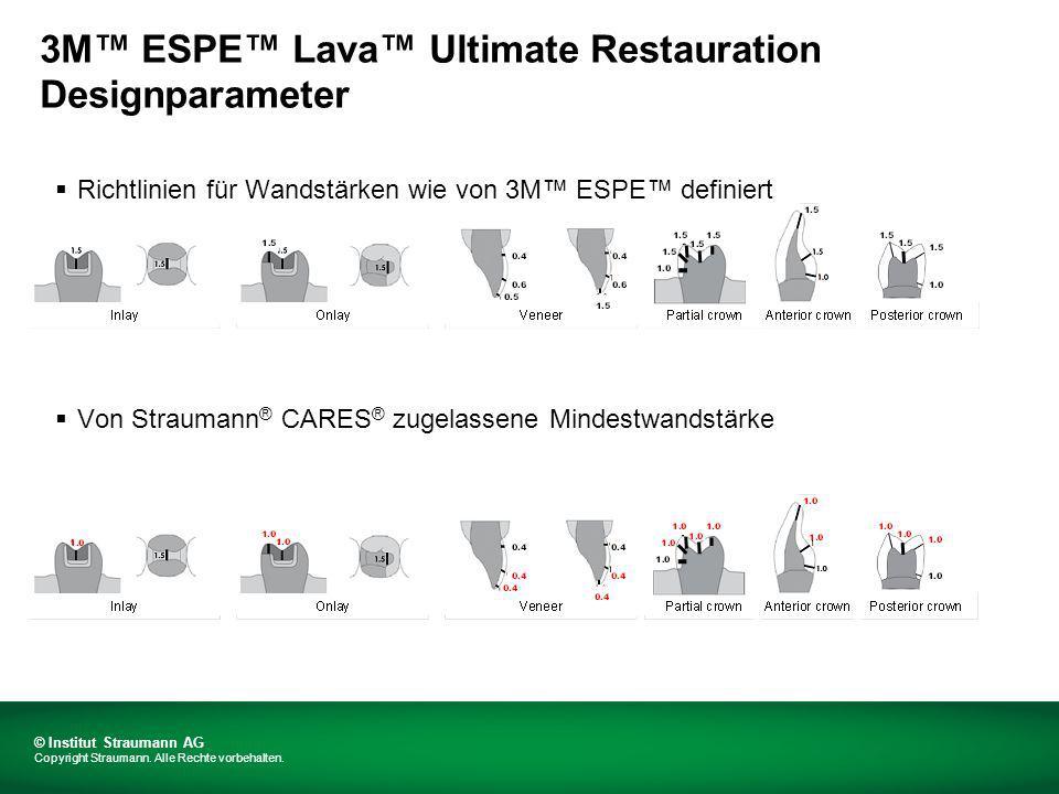 3M™ ESPE™ Lava™ Ultimate Restauration Designparameter