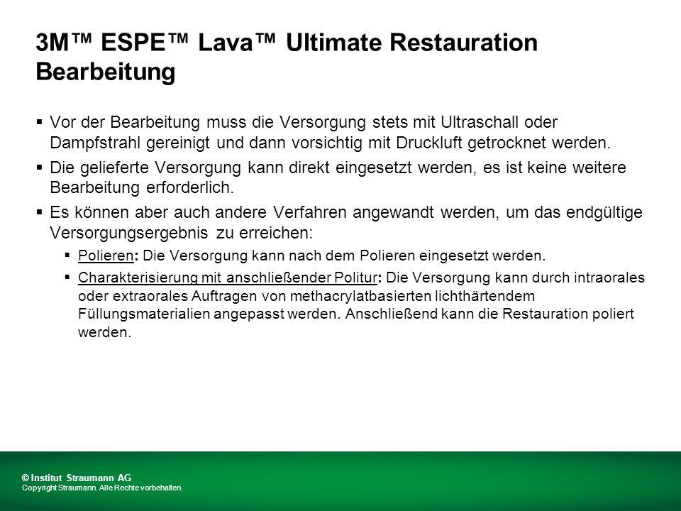 3M™ ESPE™ Lava™ Ultimate Restauration Bearbeitung