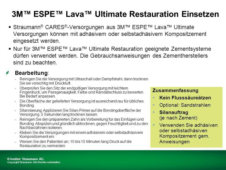 3M™ ESPE™ Lava™ Ultimate Restauration Einsetzen